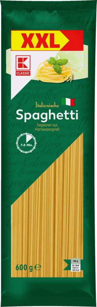 Abbildung des Sortimentsartikels K-Classic XXL-Spaghetti ohne Ei 600g