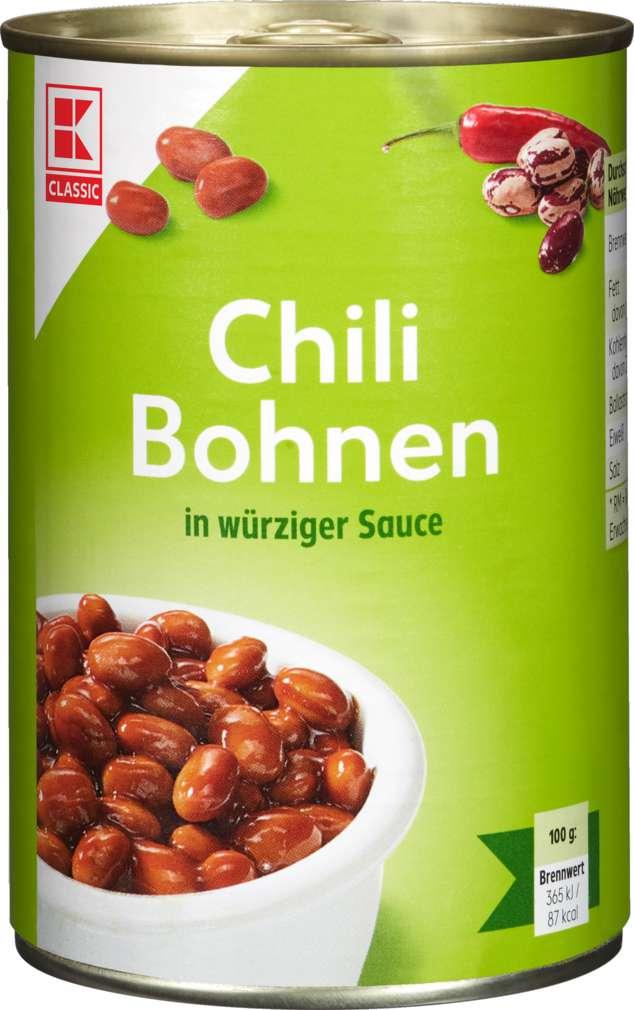 Abbildung des Sortimentsartikels K-Classic Chili-Bohnen 425ml