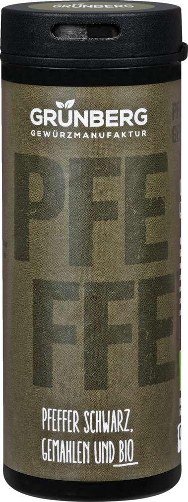 Abbildung des Sortimentsartikels Grünberg Bio-Pfeffer schwarz, gemahlen 55g