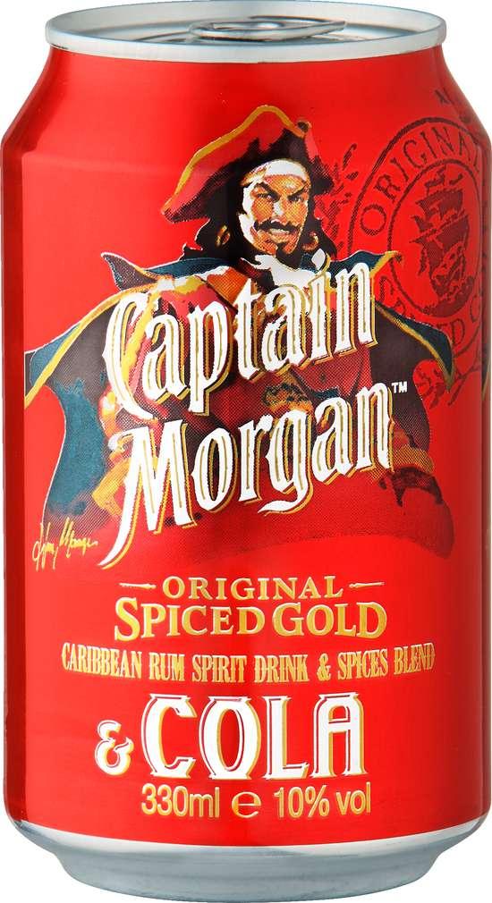 Abbildung des Sortimentsartikels Captain Morgan Original Spiced Gold & Cola 0,33l