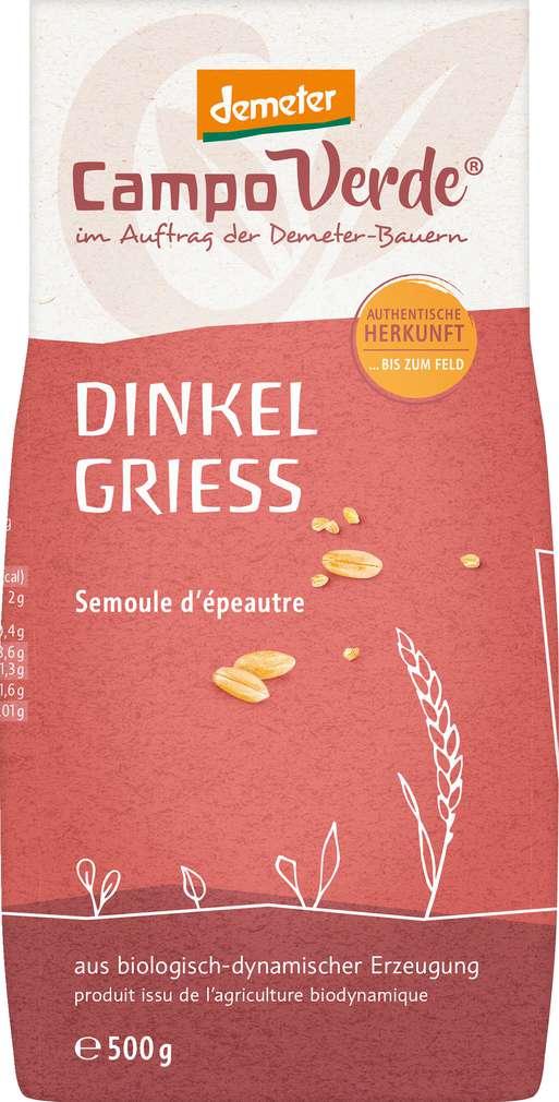 Abbildung des Sortimentsartikels Campo Verde Demeter Bio Dinkelgrieß 500g