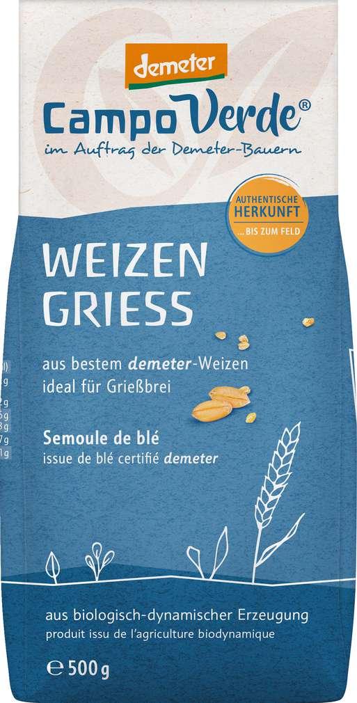 Abbildung des Sortimentsartikels Campo Verde Demeter Bio Weizengrieß 500g