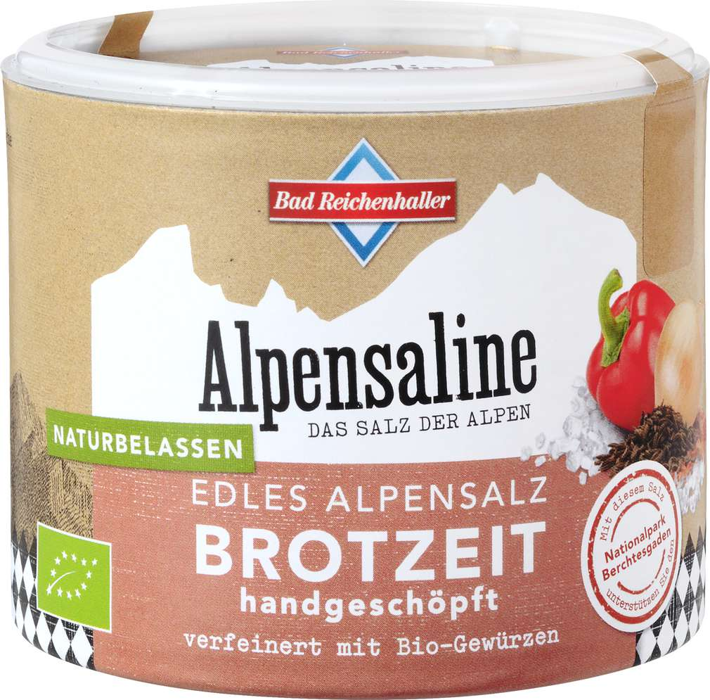 Abbildung des Sortimentsartikels Bad Reichenhaller Bio Edles Alpensalz Brotzeit 100g
