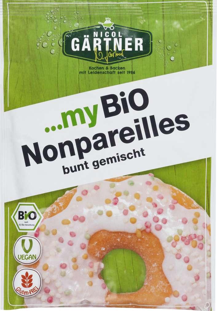 Abbildung des Sortimentsartikels Nicol Gärtner Bio-Nonpareilles bunt gemischt 35g