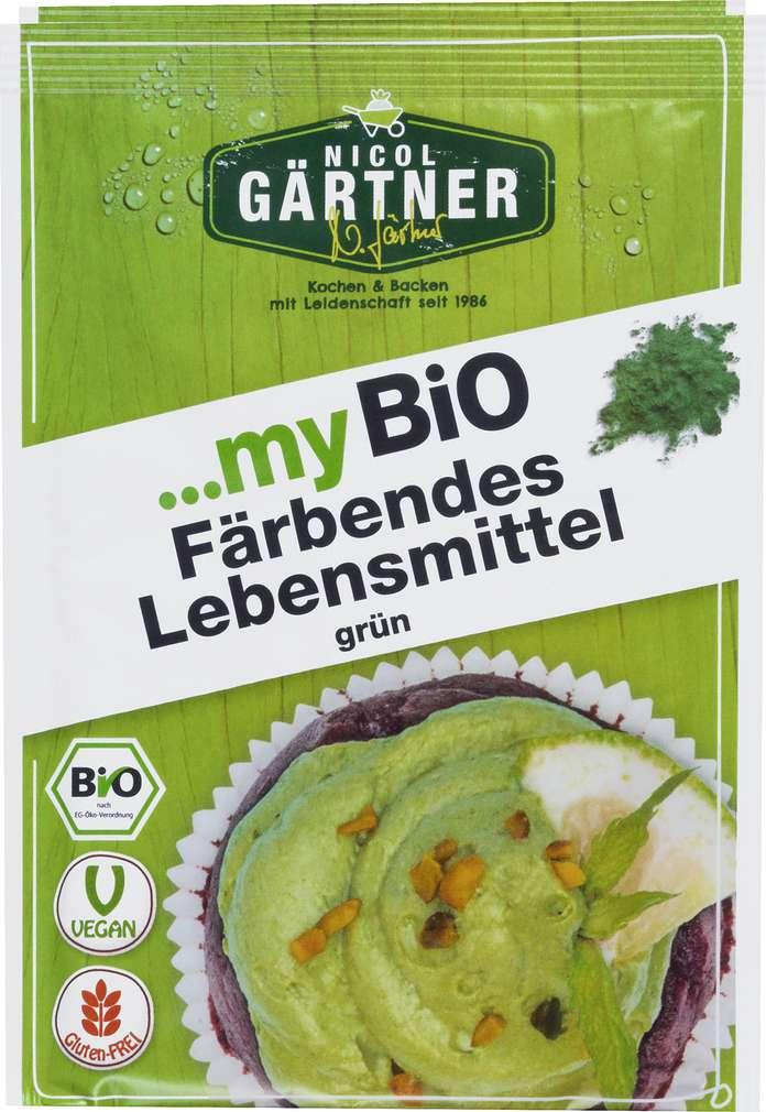 Abbildung des Sortimentsartikels Nicol Gärtner Bio-Färbende Lebensmittel Farbe Grün 16g