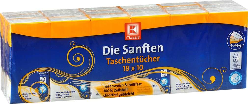 Abbildung des Sortimentsartikels K-Classic Die Sanften Taschentücher 18 x 10 Pk