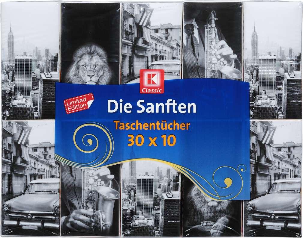 Abbildung des Sortimentsartikels K-Classic Die Sanften Taschentücher 30x10 Stück