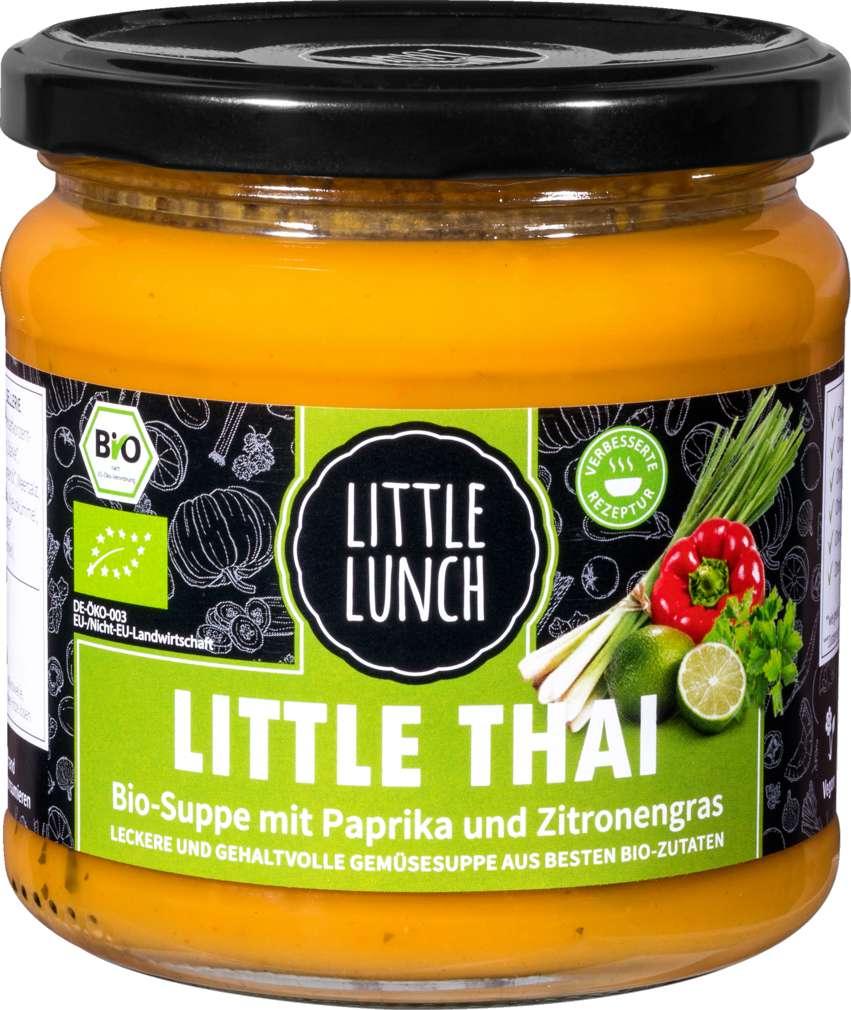 Abbildung des Sortimentsartikels Little Lunch Bio-Thai Suppe Paprika und Zitronengras 350g