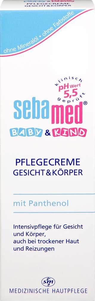Abbildung des Sortimentsartikels Sebamed Baby & Kind Pflegecreme Gesicht & Körper 75ml