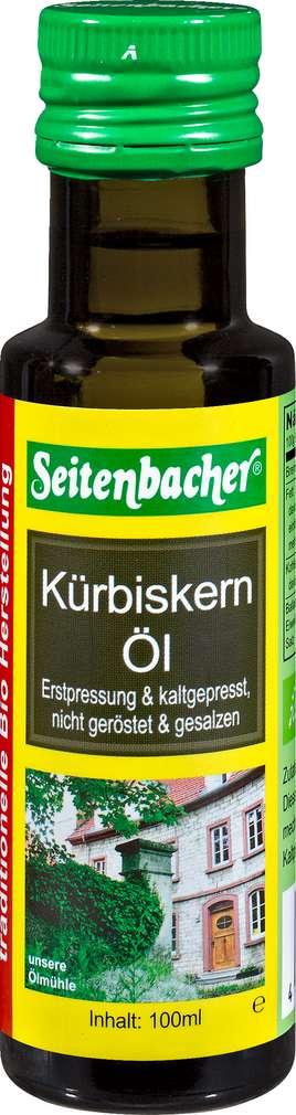 Abbildung des Sortimentsartikels Seitenbacher Bio-Kürbiskernöl 100ml