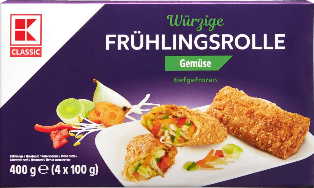 Abbildung des Sortimentsartikels K-Classic Frühlingsrolle Gemüse 4x100g
