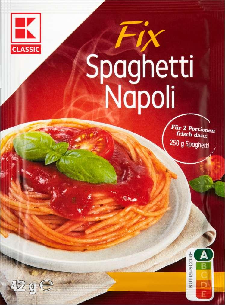 Abbildung des Sortimentsartikels K-Classic Fix für Spaghetti Napoli 42g