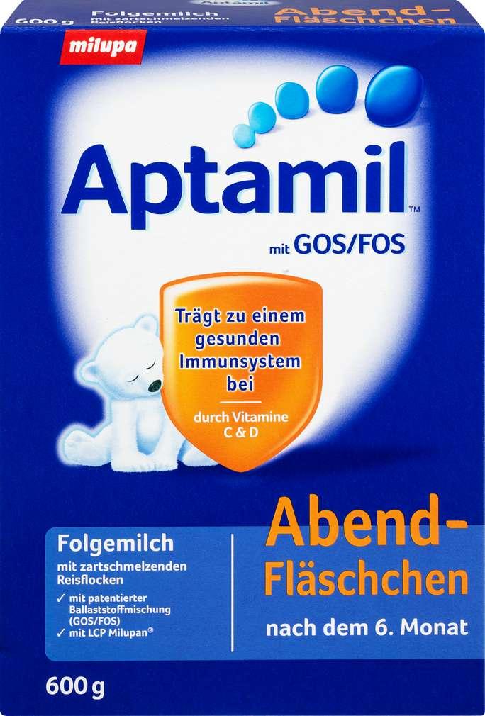 Abbildung des Sortimentsartikels Aptamil Folgemilch Abend-Fläschchen 600g