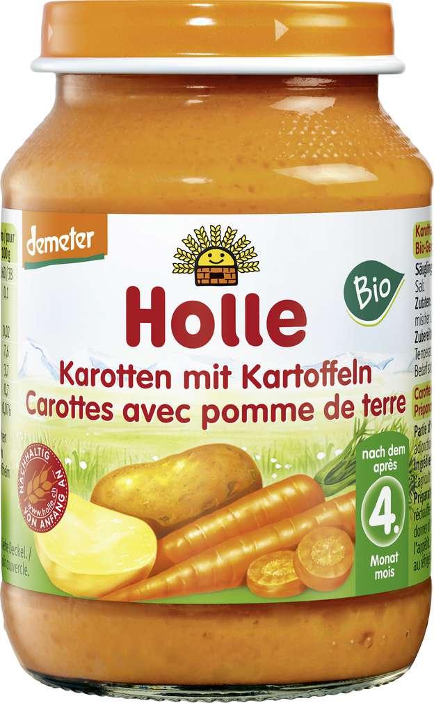 Abbildung des Sortimentsartikels Holle Demeter Karotte/Kartoffel nach dem 4. Monat 190g