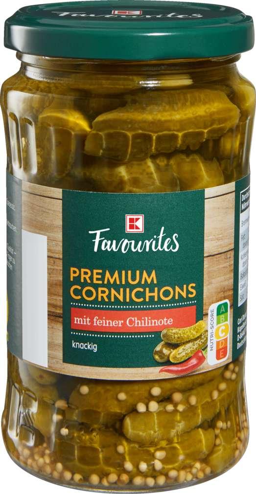 Abbildung des Sortimentsartikels K-Favourites Premium Cornichons Chili 330g