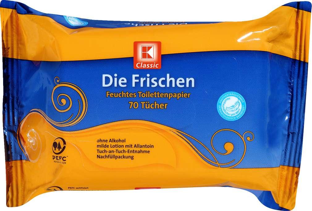 Abbildung des Sortimentsartikels K-Classic Die Frischen Toilettentücher feucht 70 Stück