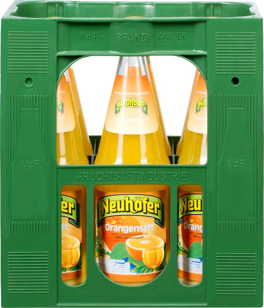 Abbildung des Sortimentsartikels Neuhöfer Orangensaft 6x1l