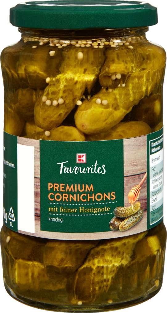 Abbildung des Sortimentsartikels K-Favourites Premium Cornichons Honig 330g