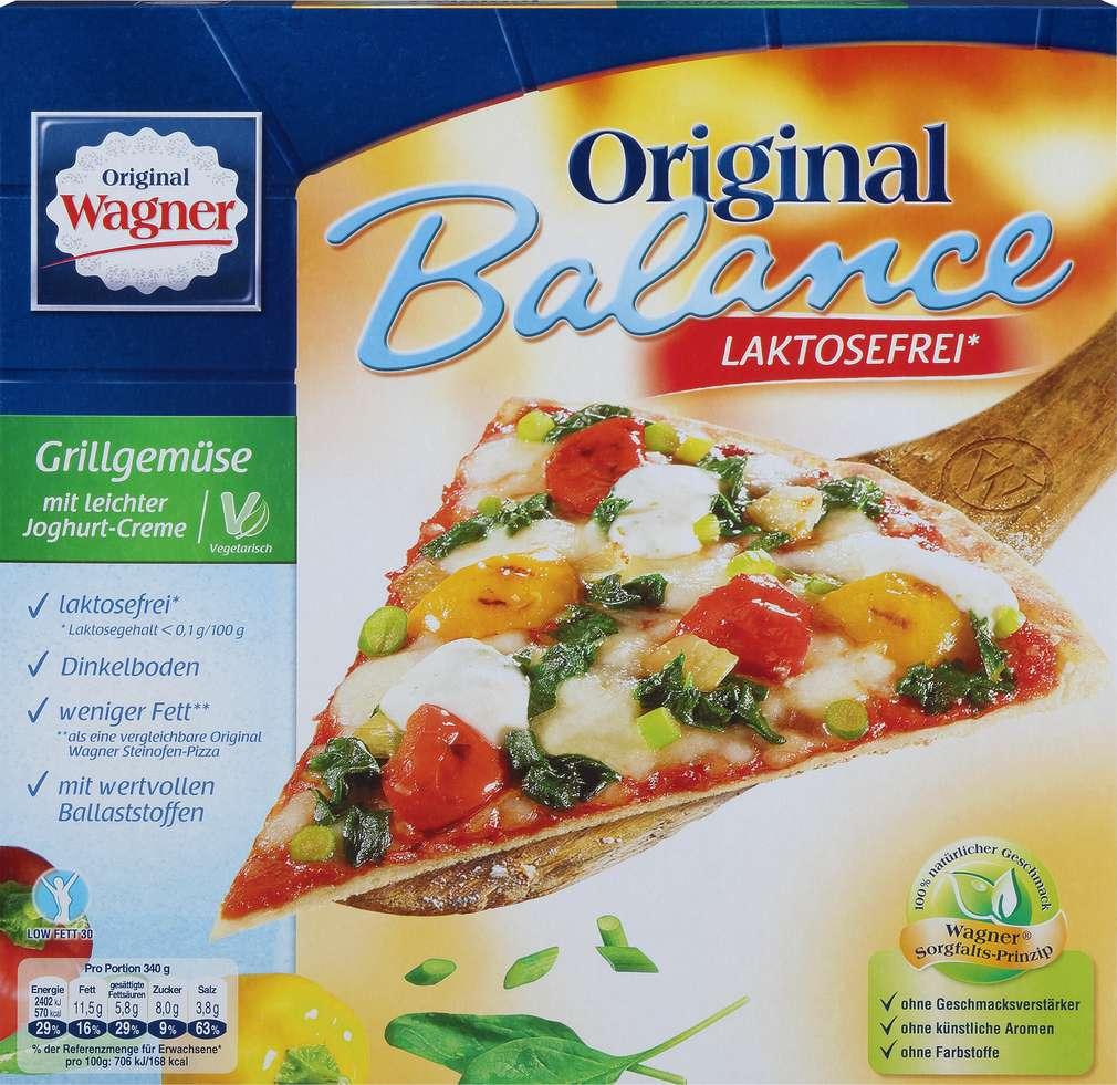 Abbildung des Sortimentsartikels Original Wagner Balance Pizza Grillgemüse laktosefrei 340g