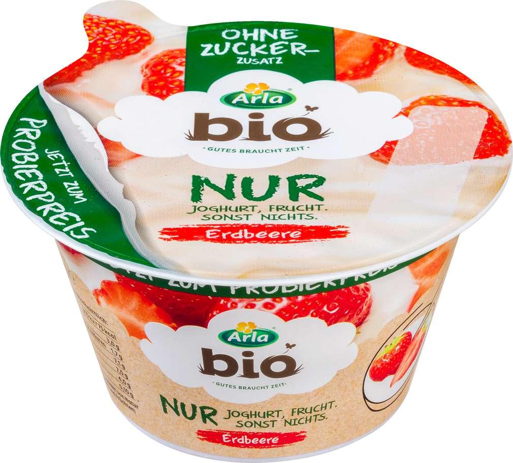 Abbildung des Sortimentsartikels Arla Bio Nur Joghurt Erdbeere 150g