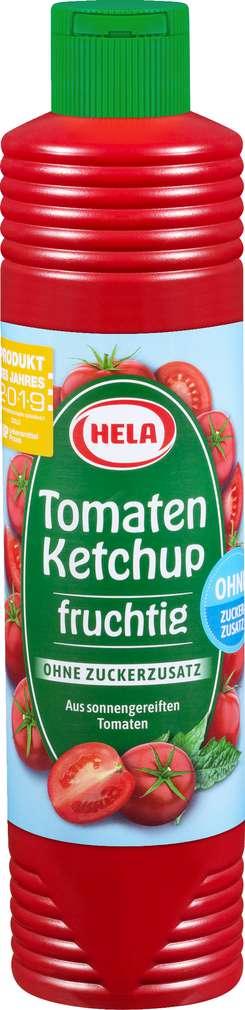 Abbildung des Sortimentsartikels Hela Tomatenketchup ohne Zuckerzusatz 800ml