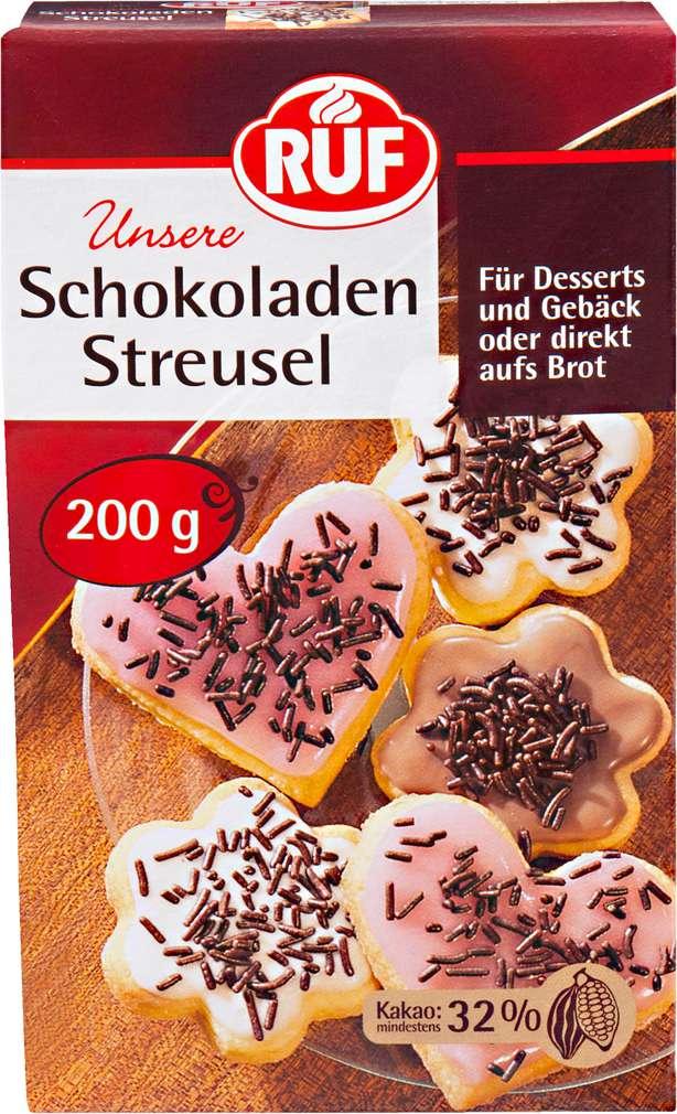 Abbildung des Sortimentsartikels Ruf Schokoladenstreusel 200g