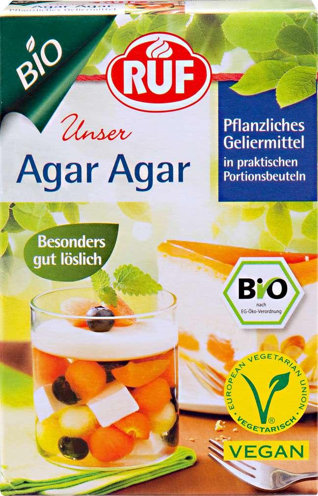 Abbildung des Sortimentsartikels Ruf Agar Agar Pflanzliches Geliermittel Bio 30g, 2 Beutel