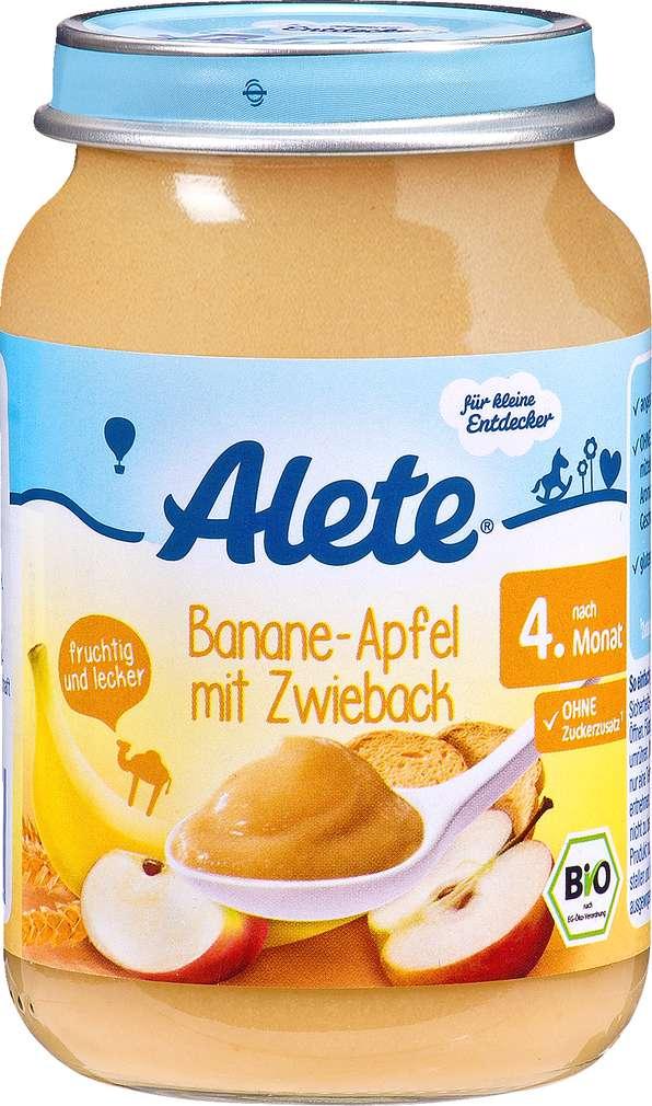 Abbildung des Sortimentsartikels Alete Banane-Apfel mit Zwieback 190g