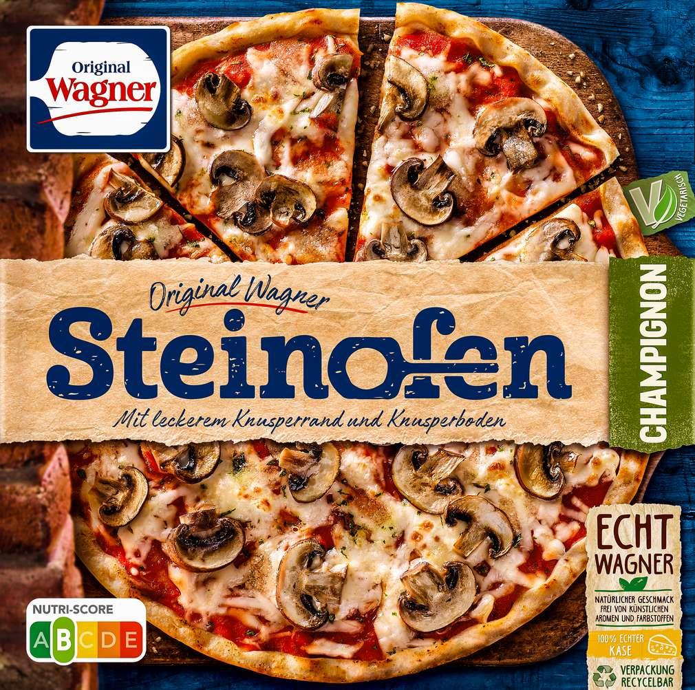 Abbildung des Sortimentsartikels Original Wagner Steinofen Pizza Champignon 350g