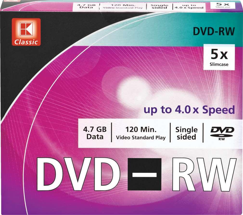 Abbildung des Sortimentsartikels K-Classic 5 x DVD-RW 4,7 GB Data
