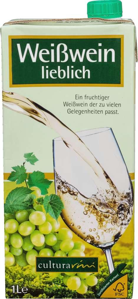 Abbildung des Sortimentsartikels Cultura Vini Weißwein TetraPak Spanien lieblich 1,0l