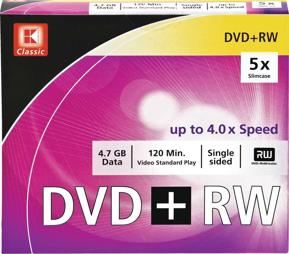 Abbildung des Sortimentsartikels K-Classic 5 x DVD+RW 4,7 GB