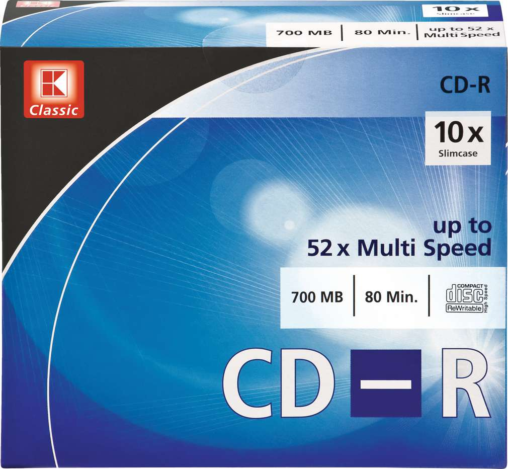 Abbildung des Sortimentsartikels K-Classic Rohlinge CD-R 700MB 10 Stück