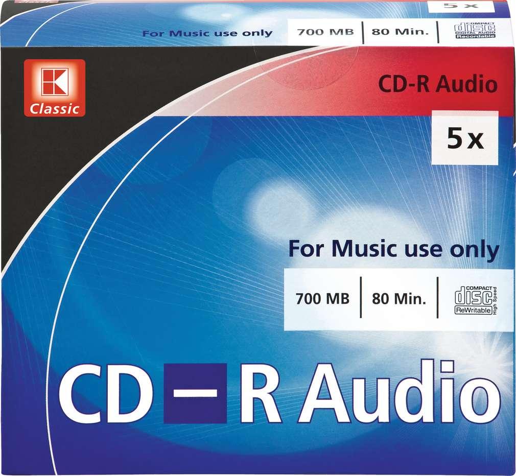 Abbildung des Sortimentsartikels K-Classic CD-R Audio 5x