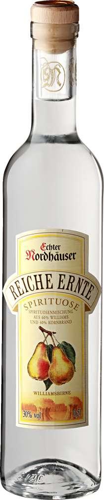 Abbildung des Sortimentsartikels Echter Nordhäuser Reiche Ernte Williamsbirne 0,5l