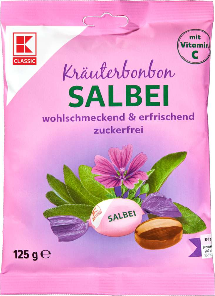 Abbildung des Sortimentsartikels K-Classic Kräuterbonbon Salbei, zuckerfrei 125g
