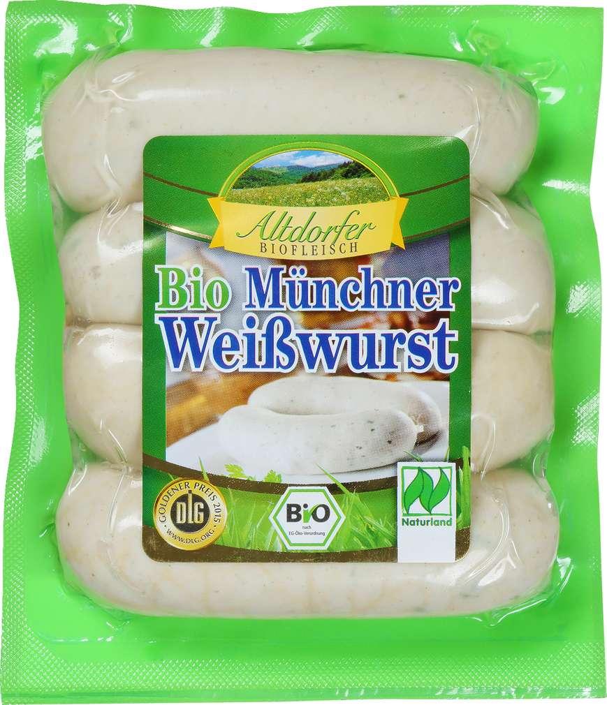 Abbildung des Sortimentsartikels Altdorfer Biofleisch Bio Münchner Weißwurst 240g