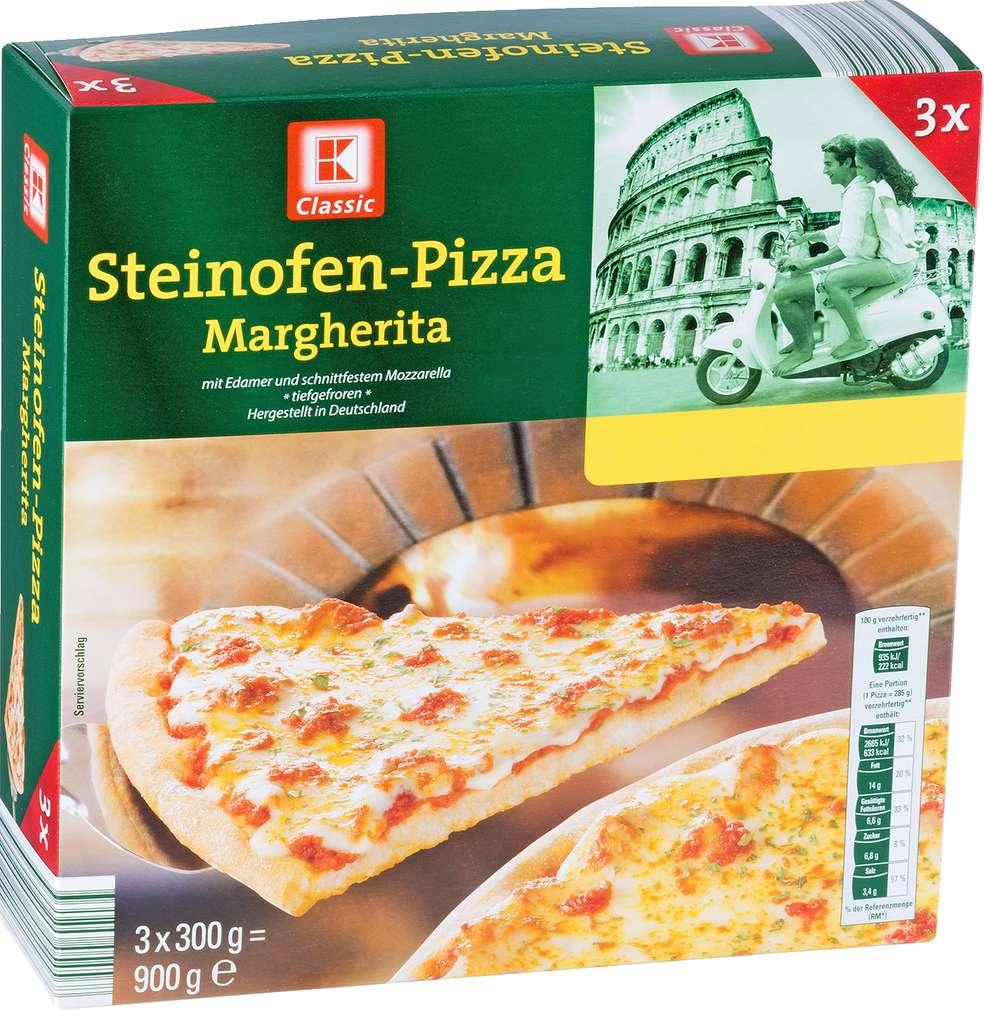 Abbildung des Sortimentsartikels K-Classic Steinofen-Pizza Margherita 900g, 3 Stück