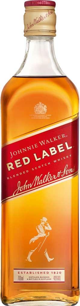 Abbildung des Sortimentsartikels Johnnie Walker Red Label Blended Scotch Whisky 40%-Vol. 0,7l