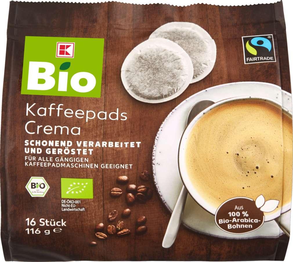 Abbildung des Sortimentsartikels K-Bio Gemahlener Kaffee in Pads 100% Arabica 116g