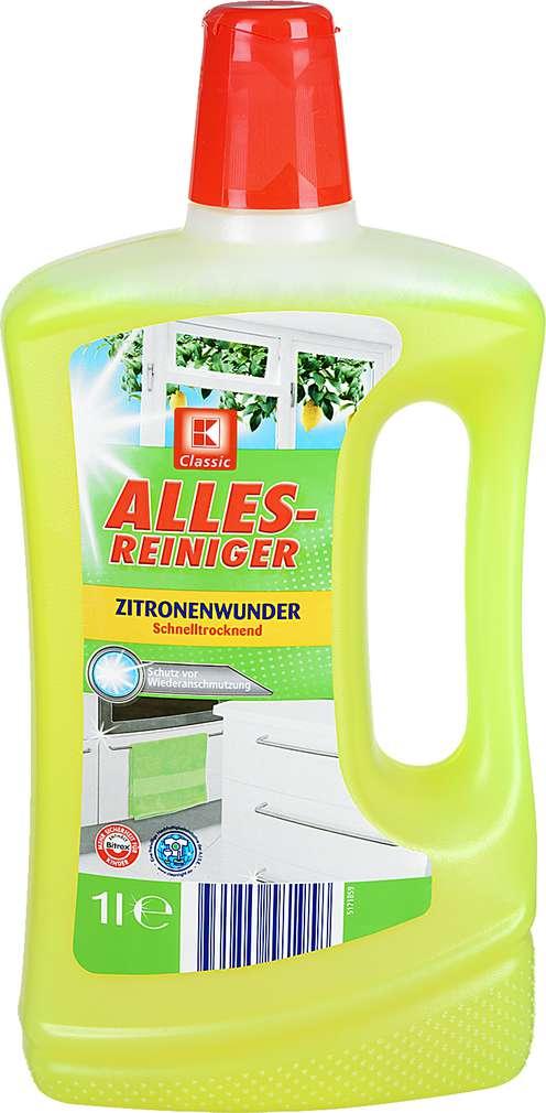 Abbildung des Sortimentsartikels K-Classic Allesreiniger Zitronenwunder 1l