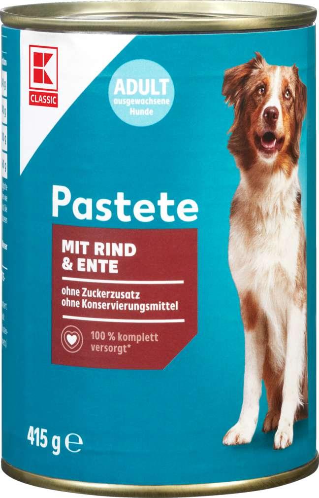 Abbildung des Sortimentsartikels K-Classic Hundenahrung Patstete Rind & Ente 415g