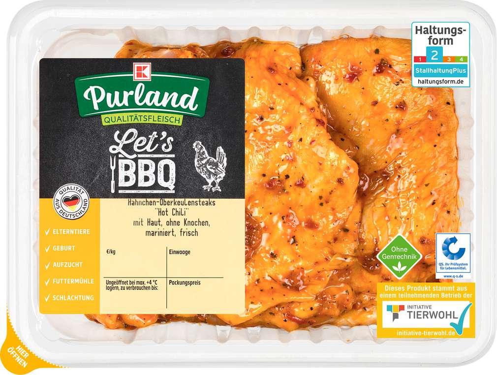 Abbildung des Sortimentsartikels K-Purland QS Hähnchen Oberkeulensteaks Hot Chili 400g