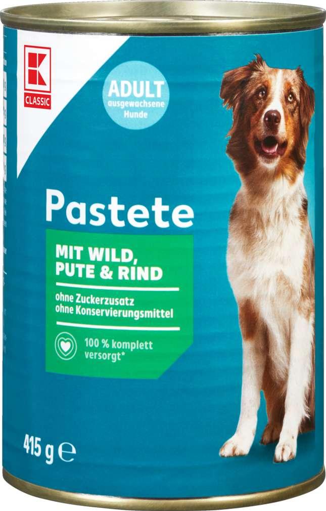 Abbildung des Sortimentsartikels K-Classic Hundenahrung Pastete mit Wild, Pute & Rind 415g