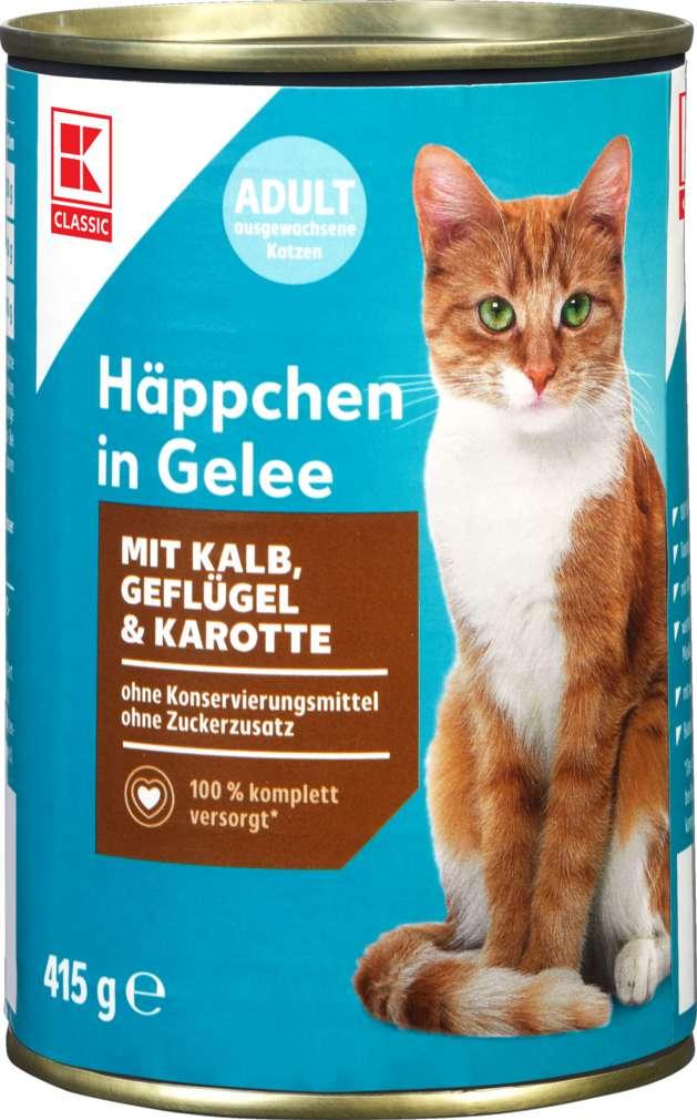 Abbildung des Sortimentsartikels K-Classic Katzennahrung Kalb, Geflügel und Karotte Gelee 415g