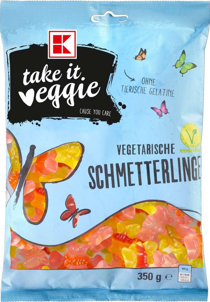 Abbildung des Sortimentsartikels K-Take it Veggie Fruchtgummi Schmetterlinge 350g