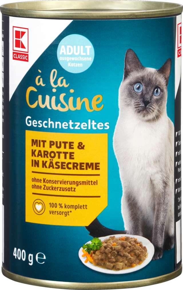 Abbildung des Sortimentsartikels K-Classic Katzennahrung Pute/Käse/Karotte 400g