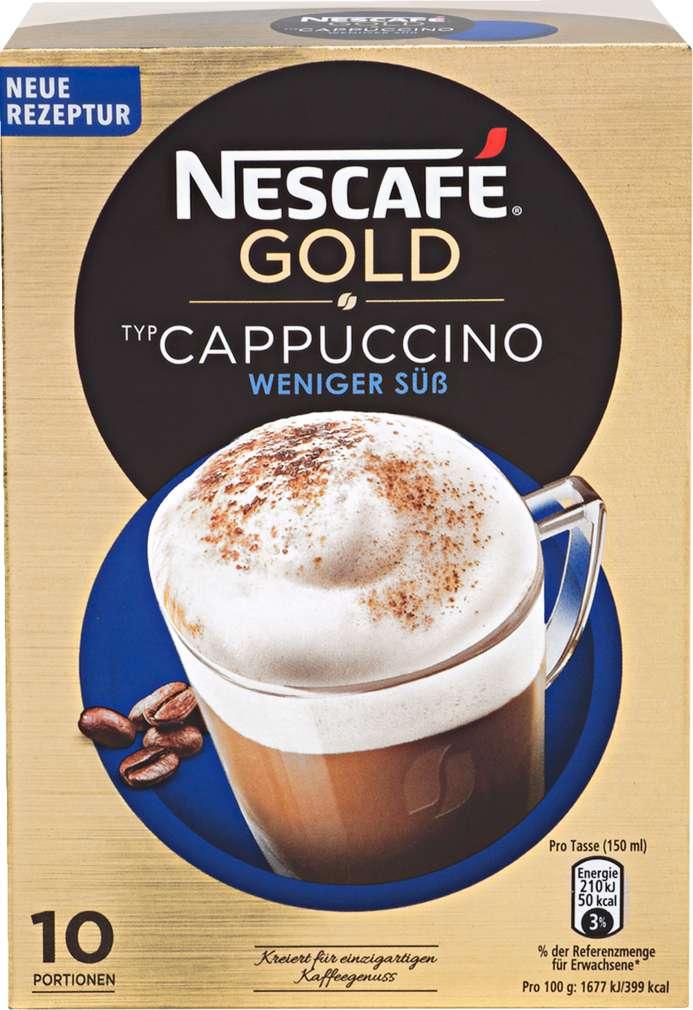 Abbildung des Sortimentsartikels Nescafé Gold Cappuccino weniger süß 125g, 10 Stück
