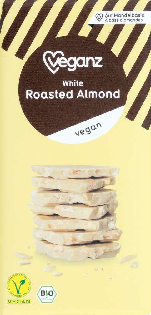 Abbildung des Sortimentsartikels Veganz Bio-Schokolade White Roasted Almond 80g