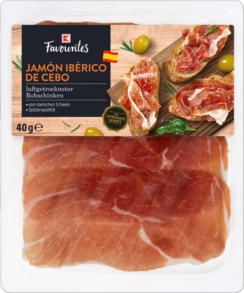 Abbildung des Sortimentsartikels K-Favourites Jamon Iberico De Cebo 40g